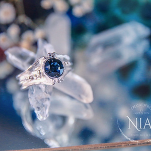 【night blue】fin ring  silver925 #9~10only