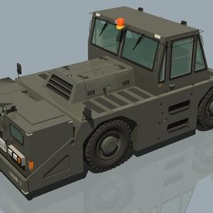 航空自衛隊 20トン牽引車&牽引バー