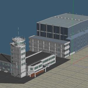 航空自衛隊 格納庫と管制塔
