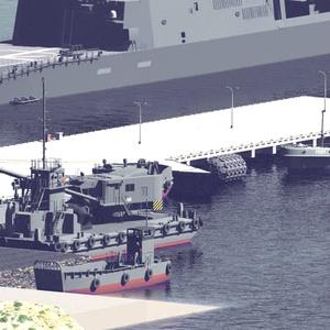 海上自衛隊 起重機台船