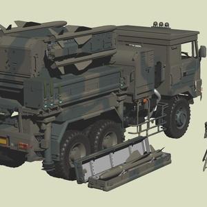 陸上自衛隊 81式 SAM地対空ミサイル発射機