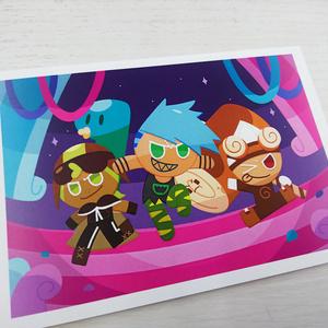 【クッキーラン】トリオポストカード