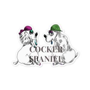 コッカー夫妻ステッカー