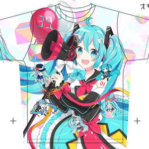 【予約販売】フルグラフィックTシャツ-マジカルミライ2018 ver-