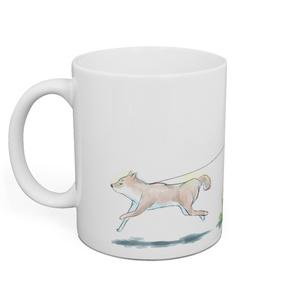 敷波と柴犬マグカップ