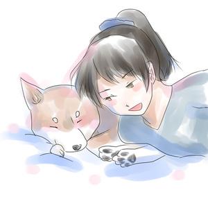 敷波と柴犬