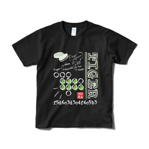 虎定石Tシャツ_黒