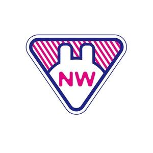 NWステッカー【紺✖️ピンク】