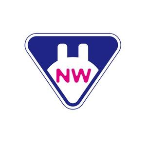 NWステッカー【ピンク✖️紺】