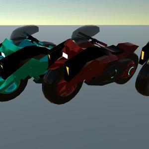 【乗り物】近未来風バイク
