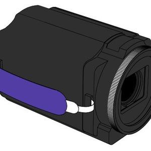 【可動】ビデオカメラ3D素材【コミスタ・クリスタ汎用】