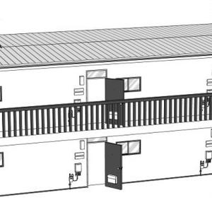 アパート3D素材
