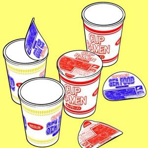 カップラーメン3D素材集