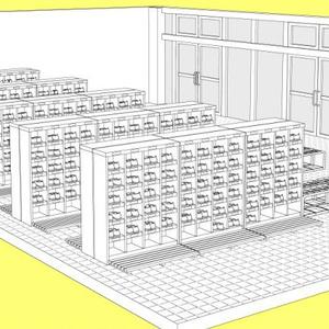学校玄関3D素材