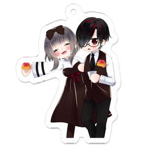 吸血鬼夫婦のアクリルキーホルダー