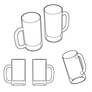 3Dビールジョッキ(透過)