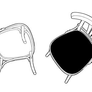 丸テーブルと椅子A