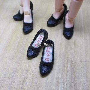 F型(オビツ11対応サイズ)ハイヒール 50:黒(靴底:黒)