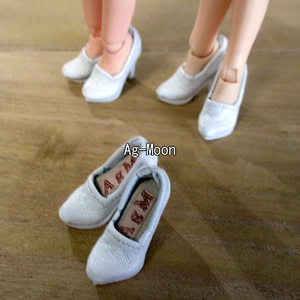 F型(オビツ11対応)ハイヒール 1:白(靴底白)