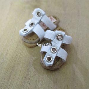 F型(オビツ11対応サイズ)グラディエーターサンダル 1:白