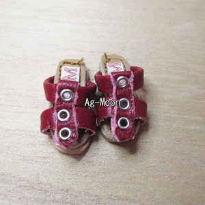 F型(オビツ11対応サイズ)グラディエーターサンダル 31:臙脂