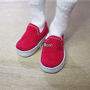 D型(ピコニーモS・M対応サイズ)スリッポンスニーカー 26:赤