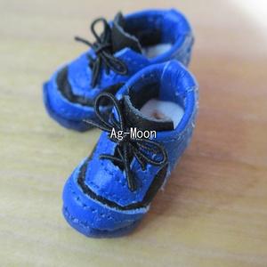 即納品:Fオビツ11対応サイズ ハイテクスニーカー 靴底青 50黒×43青