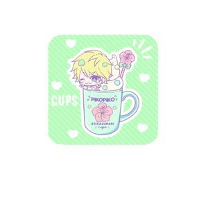 CUPS 角丸スクエア缶バッジ