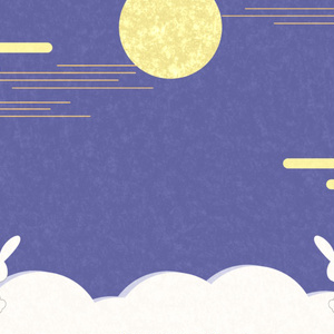 【配信背景】お月見 配信画面