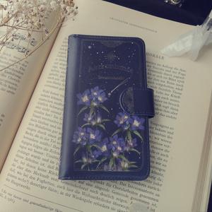 夜空の花園:竜胆 スマホケース