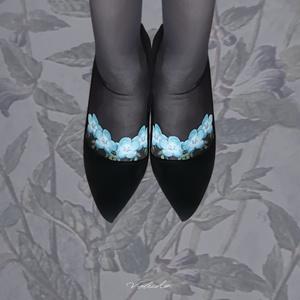 花園を纏うストッキング:Nemophila:noir