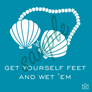 get yourself feet and wet 'emパーカー【人魚姫】