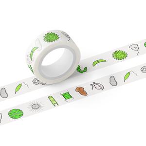 かわいい微生物マスキングテープ