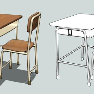 教室の机と椅子ver1.00(FBX)