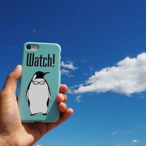 レオナルド・ウォッチ風ペンギンiPhoneケース
