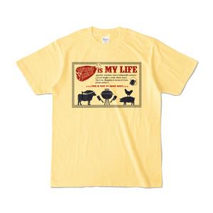 お肉とビール大好きTシャツ