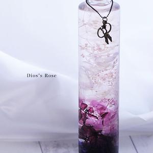 紫陽花とかすみ草のハーバリウム(紫)
