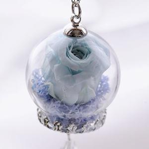 薔薇のガラスドームペンダント
