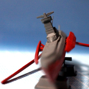 架空艦『古代戦艦イリスヨナ』ガレージキット(設定検証プロップモデル ver2021.04.01)