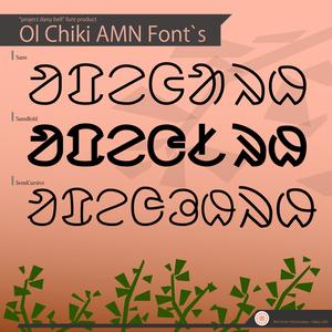 オル・チキ文字フォント セット (フリー版) OlChikiAMN Fonts
