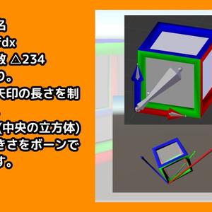 【座標軸】XYZキューブ【ローポリ】