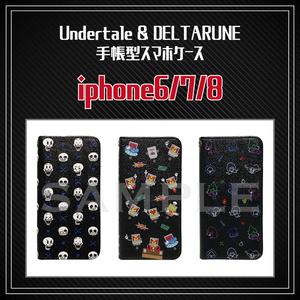 ※受注予約【 Undertale & DELTARUNE 】iPhone6/7/8用 手帳型スマホケース