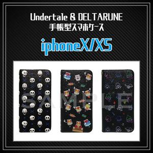 ※受注予約【 Undertale & DELTARUNE 】iPhoneX/XS用 手帳型スマホケース