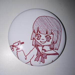 メンヘラ少女 缶バッチ
