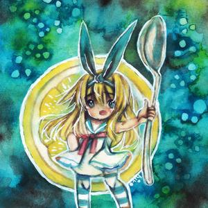 ポストカード*アリス-レモン