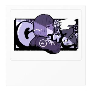 【渡瀬しぃの×飯田テイケ】コラボグッズ:ClowZ Girl【ステッカー】