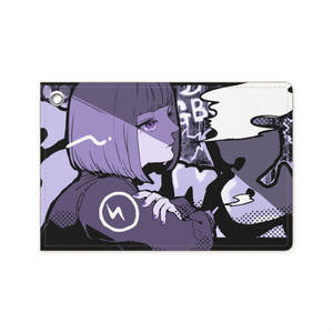 【渡瀬しぃの×飯田テイケ】コラボグッズ:ClowZ Girl【パスケース】