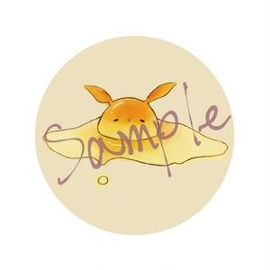 【COMITIA123】うさぎ×なまたまご 布製バッジ