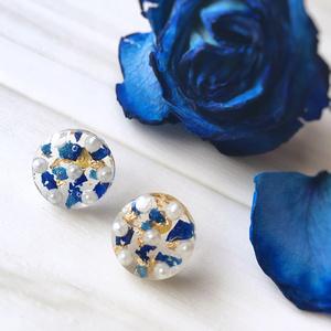 Blue Rose -レジン ピアス-