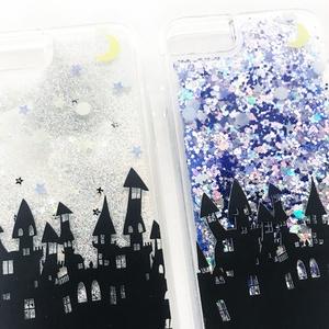 雲の上のガラスの城 iPhoneグリッターケース